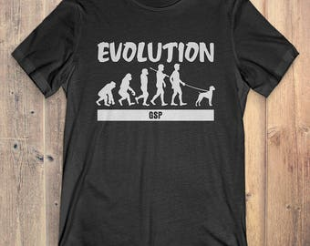 German Shorthaired Pointer Custom Dog T-Shirt Gift: German Shorthaired Pointer Evolution