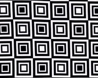 Michael Miller Cubism in Black and White 1/2 Yard by Michael Miller Fabrics