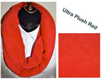 Ultra Plush Red Infinity Scarf