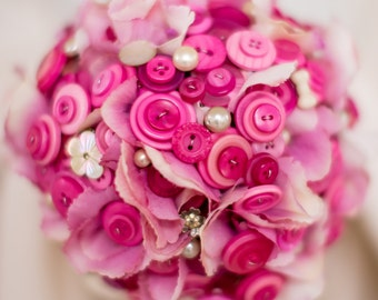 button bouquet package