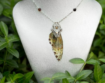 Boggart wing Necklace Silver