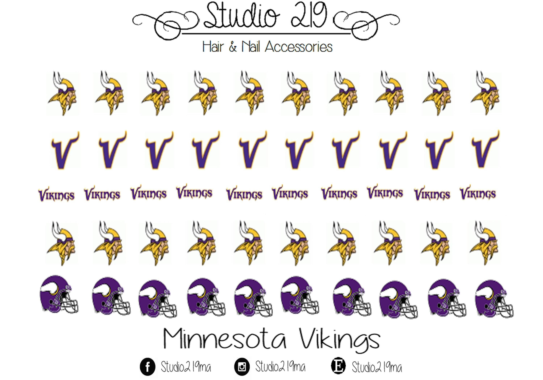 Minnesota Vikings Waterslide Nail Decals