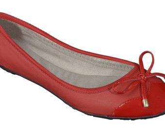 Foldable ballet flats - red ballet flats, wedding flats, bridal party gifts, bridal flats, wedding shoes, bridesmaid gift, gift for women