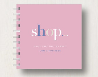 Personalised 'Shopping' Small Notebook