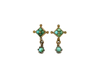 Antique Victorian Turquoise Earrings