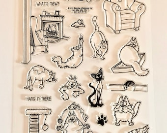 cat stamps, kitten stamps, cat cards, kitty, fireplace stamps, cat furniture stamps, furniture stamps, siamese cat stamps, cat toy stamps,