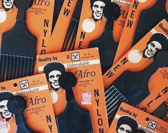 Vintage 1970's Afro Pick (Original Packaging)
