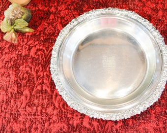 Friedman Silver Plate Pie Plate Stand - Silver Pie Plate Holder - Pyrex 10\  Pie & Reed \u0026 Barton Silver Plate Pie Plate Holder Glass Pie Plate
