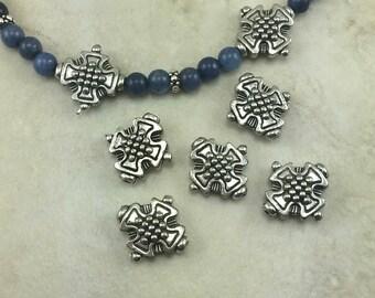 5 verzierten Kreuz Anwaltskanzlei Perlen > Malteser Stil St. Florian Feuerwehrmann - amerikanischen gemacht führen kostenlose Zinn Silber - Ich versende International
