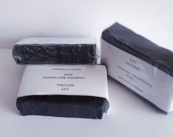Active charcoal& butter milk soap