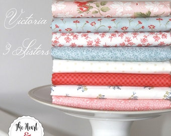 Victoria by 3 Sisters for Moda ~ 8 Fat Quarter Bundle