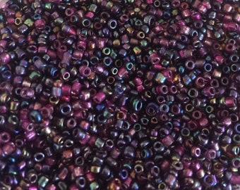 Jewel Tone 10/0 Seed Bead Mix 15 grams