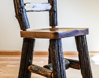Rustic Log Chair Reclaimed Wood Furniture Unique Chair Rustic Wood Chair
