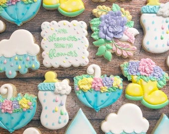 Floral Rainboots Cookie Cutter
