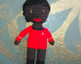 Lt. Uhura Stuffed Crocheted Doll