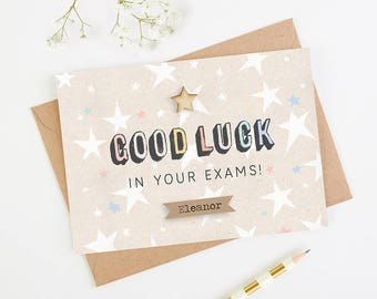 Good Luck Exam Card Personalised