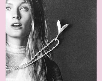 Pendant Lilac in Silver - small