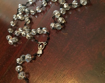 Custom Made Clear Crystal Rosary