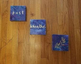 Just Breathe 3 Piece Wall Art