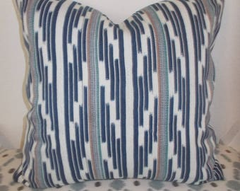 Authentic African  Indigo Mud cloth pillow cover Indigo and white details