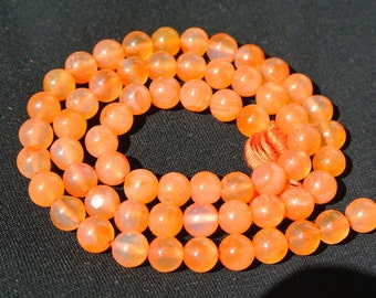 6mm Natural Gemstone Carnelian Smooth / Polished Round Beads 14 inches Strand Gemstone Beads Wholesale Price