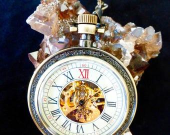 Augustus Pocket Watch - Brass