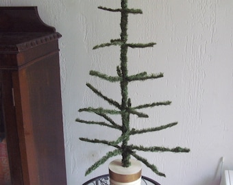 "1950's(40's)Absol.genuine(NOT REPRO)Vtg.artificial Christmas tree-celluloid/early plastic/metal/wood tree-28 1/2""ht.One owner(fam.)EXCELLENT"