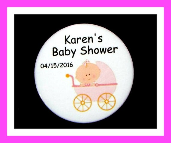 Baby Shower Buggy Favors,Personalized Buttons Pins,Favor Tags,Its a girl,Party Favors,Birthday Party Favors,Personalized Favors,Set of 10