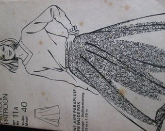 old women of today pattern size 40 umbrella skirt can be made in lots of fabrics and sizes