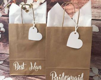 Wedding Favour Bag Welcome Guest Gift Bag Bridesmaid Best Man Flowergirl