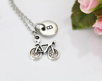 Bicycle Necklace, Silver Bicycle Charm, Bicycle Jewelry, Sports Charm, Bike Rider Gift, Bicycling Gift, Adventure Gift, Outdoor Gift, N157