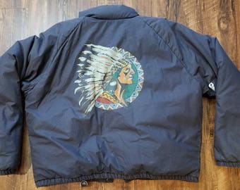 Vintage Polo Ralph Lauren Native American Down Jacket