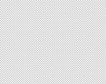 NEW!! Fabric by the yard - Fat Quarter Bundle - Quilt Fabric - Modern basic fabric - Riley Blake - Low Volume Fabric - Gray Kisses On White