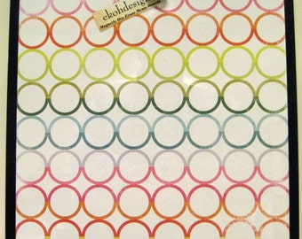 Rainbow Circles ..Magnet Dry Erase  Memo Board /Housewarming Gift / Office Decor /Organization / Desk / Wall Decor / Message /Dorm Decor