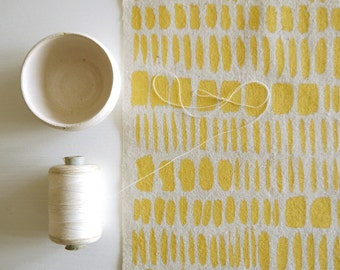 Brushstrokes - hand screen printed fabric for patchwork, sewing, embroidery, crafting & framing in neon + metallic colours/colors