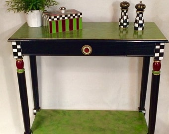 Charmant Whimsical Painted Furniture, Painted Console Table, Whimsical Painted  Table, Console Tablepainted Furniture