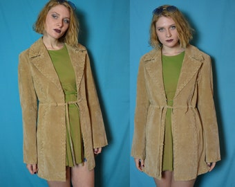 70s 80s Penny Lane suede jacket with lace up detail