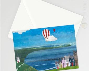Coastal Town A6 Greetings Card