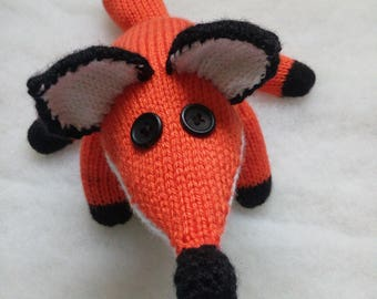 Knitted Fox - Orange Fox Toy, Ready Made