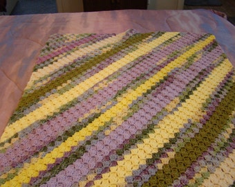 c2c stitch Baby Blanket or Rv Blanket or Lap Blanket pastel colors