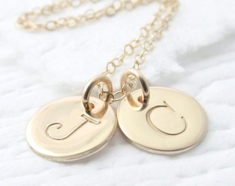 Gold Initial Necklace Gold Necklace Personalized Necklace Solid Gold Necklace Mothers Necklace Holiday Gift