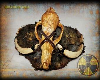 Postapocalyptic Half Mask-Tribal style-Fox skull-Wasteland Warrior