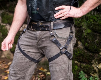 Leather X Thigh Harness