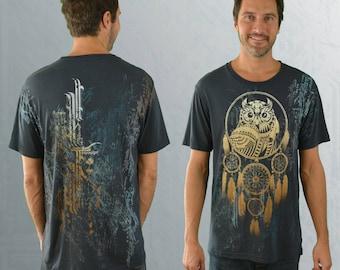 Bamboo T-shirt - 'Bring the Night' - Gray