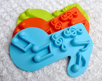 6-cavities Music Note Ice Mold Mold Mould Soap Mold Silicone Mold Flexible Mold