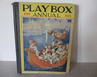 Antique Children's Book Playbox Annual 1918