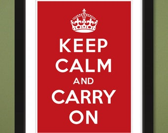 Keep Calm And Carry On – UK WWII 1939 (12x16 Heavyweight Art Print)
