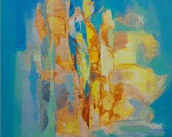 Blue Painting, Green Painting, Yellow Painting Abstract Painting Original Painting Modern Painting