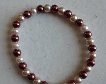 Brown and light brown bracelet