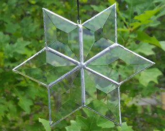 Beveled Stained Glass Star